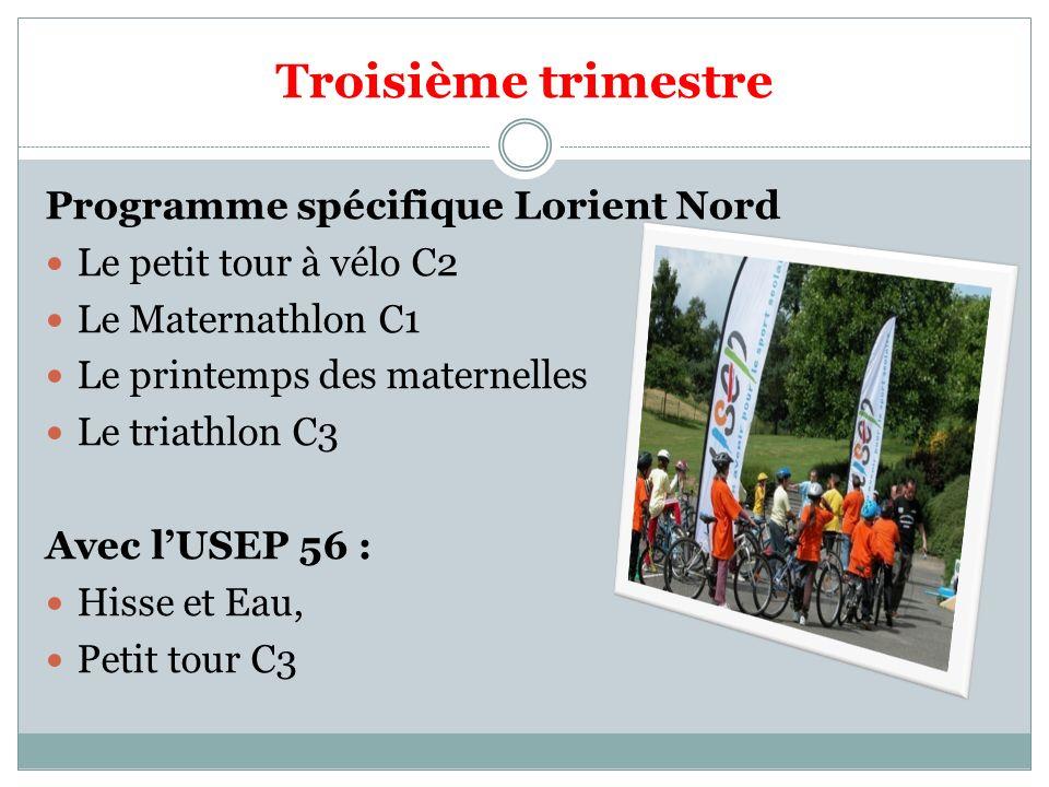 Troisième trimestre Programme spécifique Lorient Nord