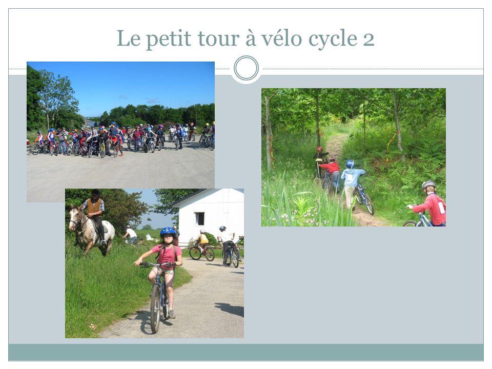 Le petit tour à vélo cycle 2