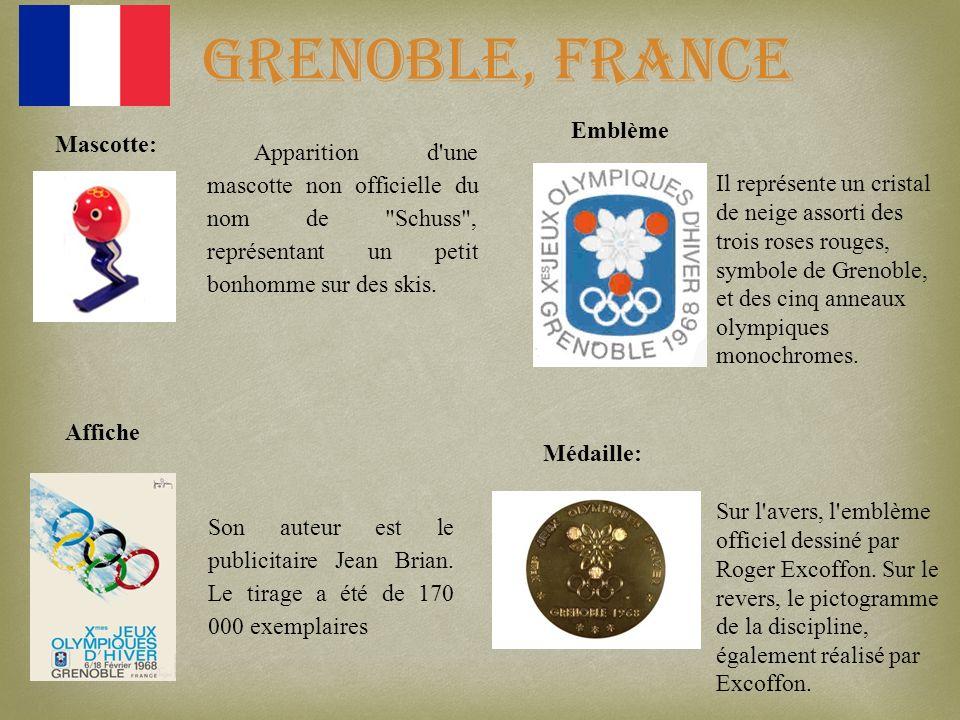 Grenoble, France Emblème Mascotte: