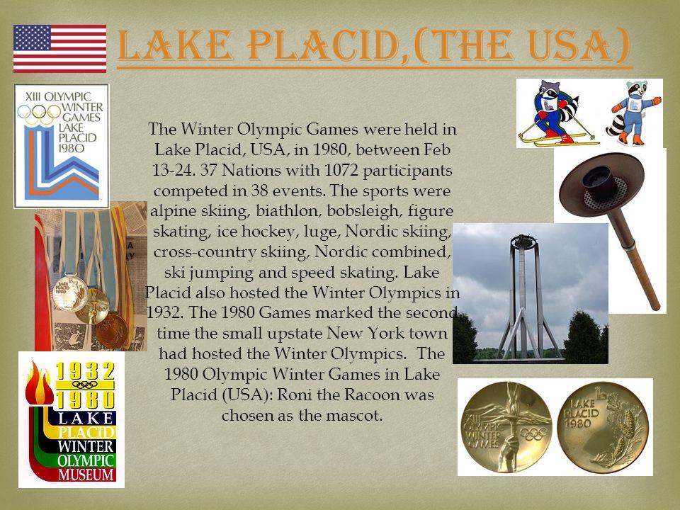 LAKE PLACID,(THE USA)
