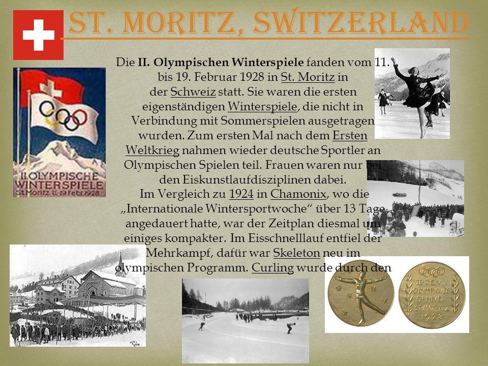 Die II. Olympischen Winterspiele fanden vom 11.