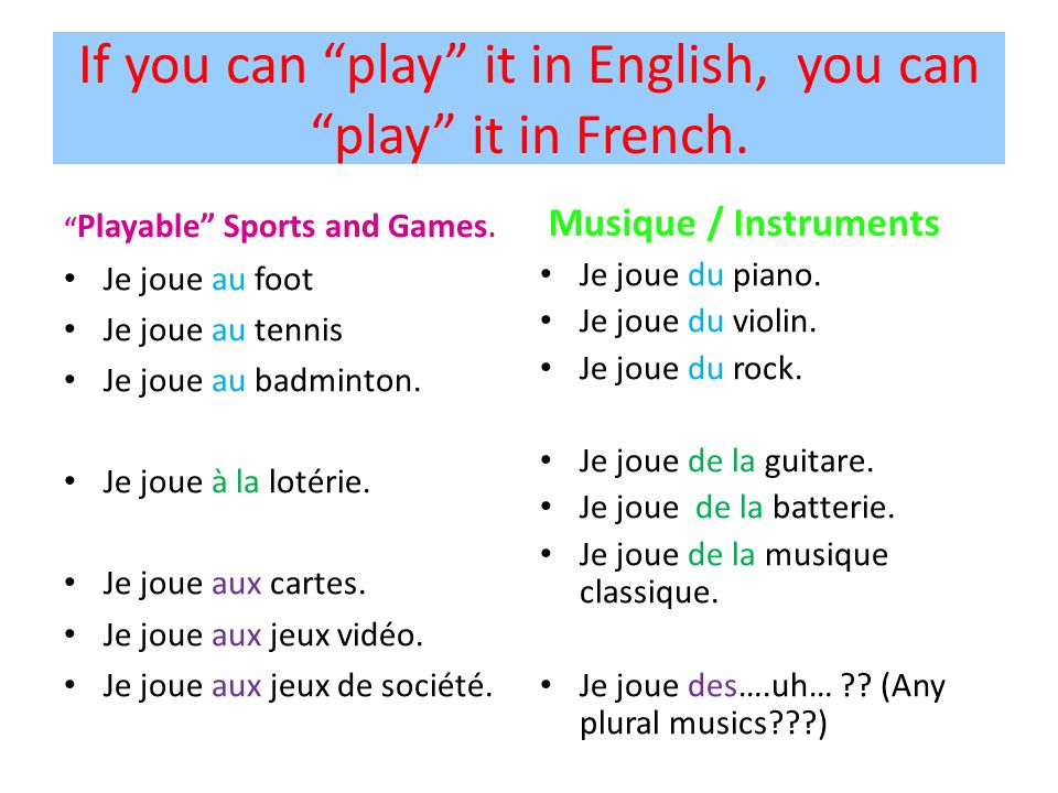 If you can play it in English, you can play it in French.