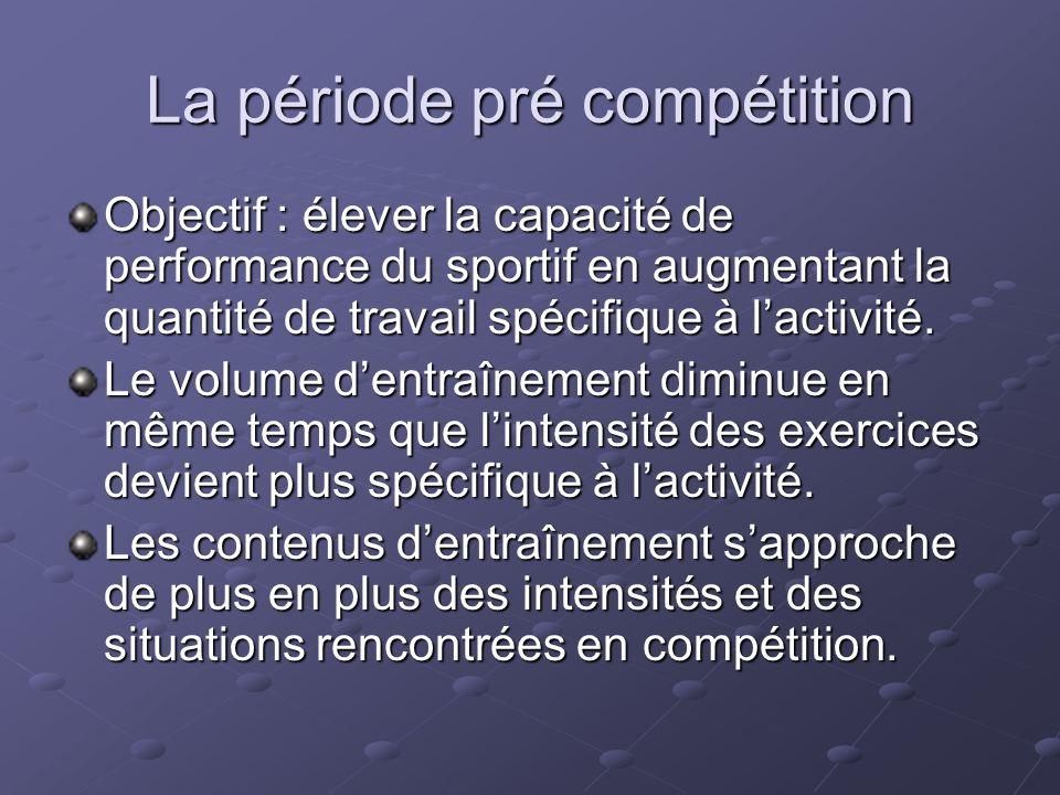 La période pré compétition