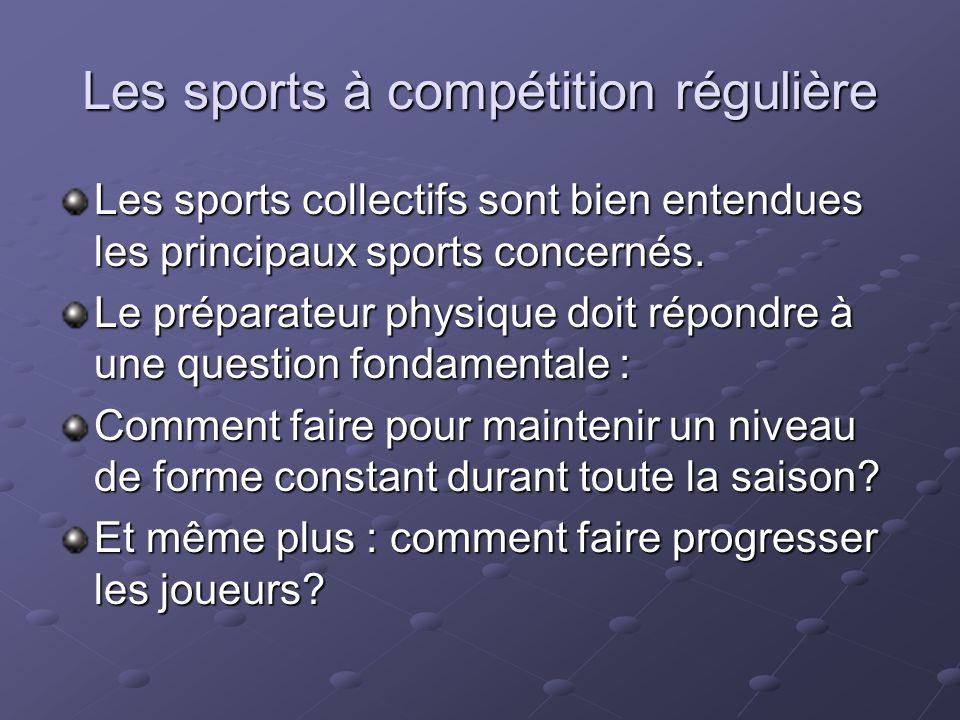 Les sports à compétition régulière