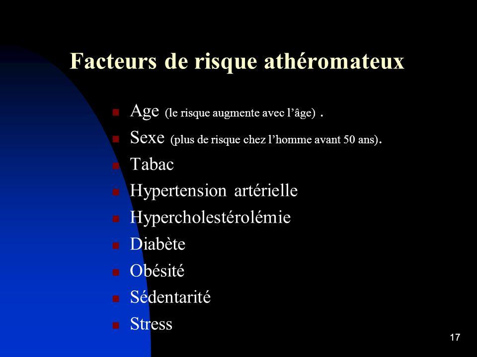Facteurs de risque athéromateux