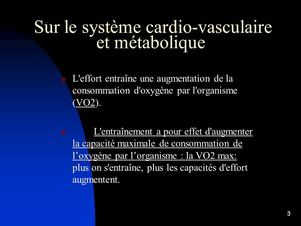 Sur le système cardio-vasculaire et métabolique