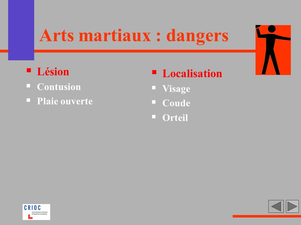 Arts martiaux : dangers