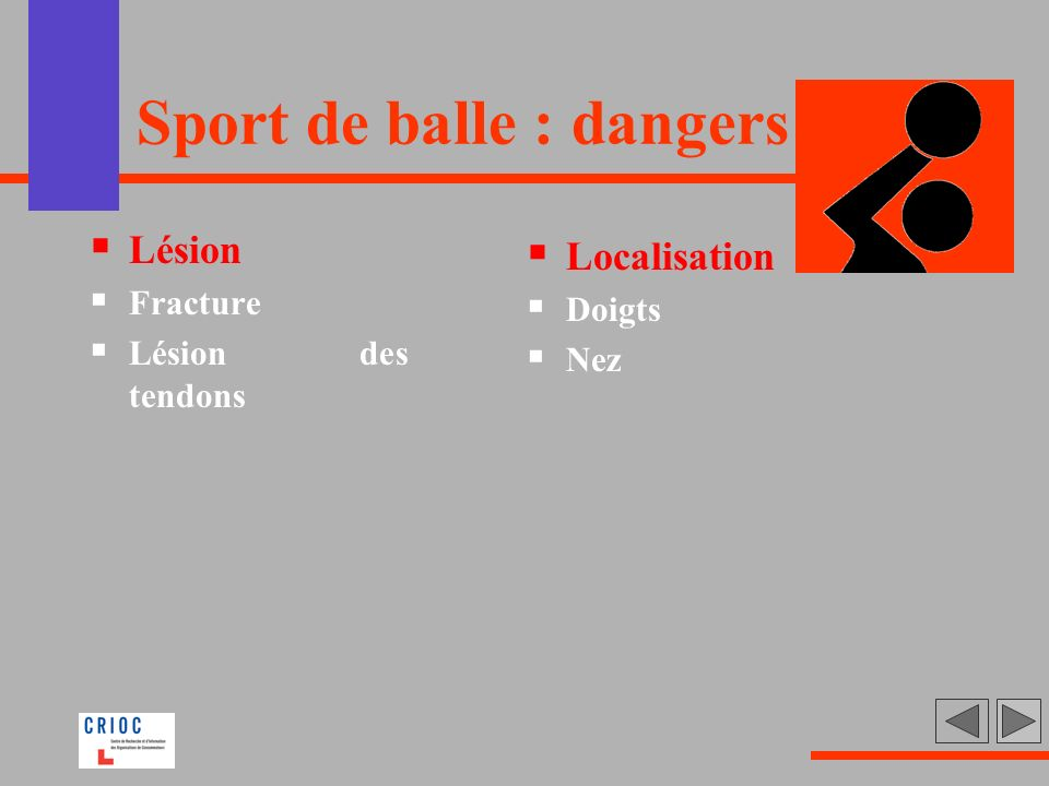 Sport de balle : dangers