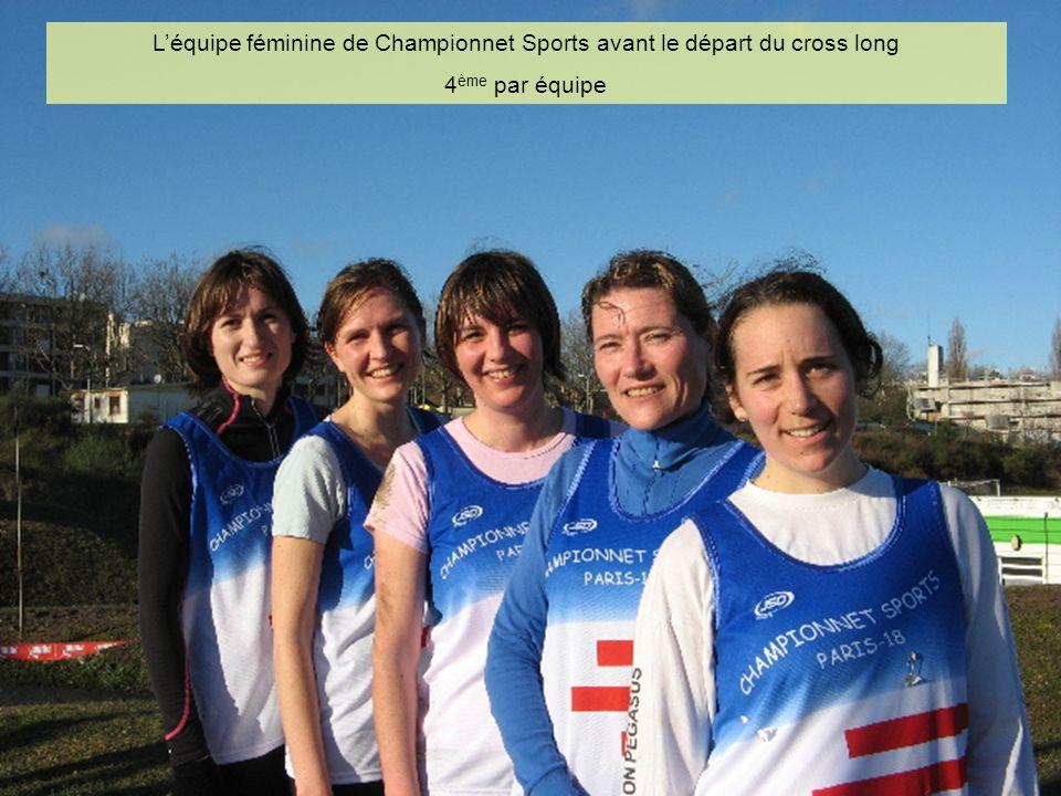 L'équipe féminine de Championnet Sports avant le départ du cross long