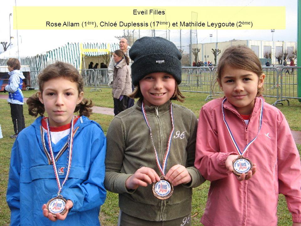 Rose Allam (1ère), Chloé Duplessis (17ème) et Mathilde Leygoute (2ème)