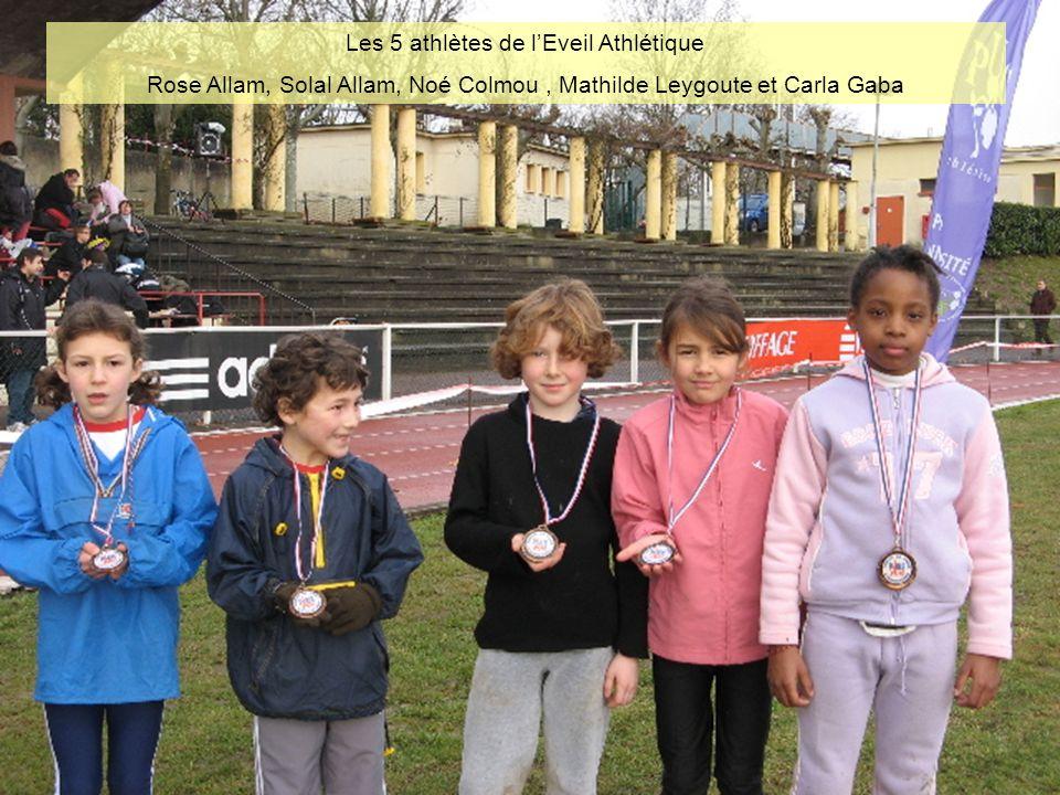 Les 5 athlètes de l'Eveil Athlétique