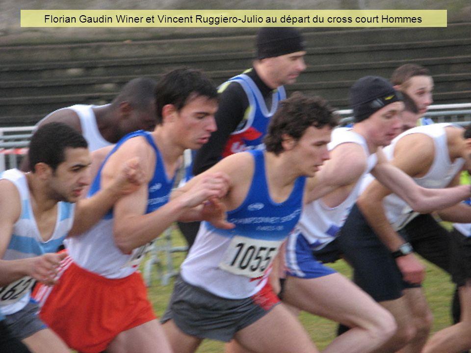 Florian Gaudin Winer et Vincent Ruggiero-Julio au départ du cross court Hommes