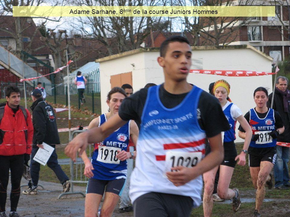 Adame Sarhane, 8ème de la course Juniors Hommes