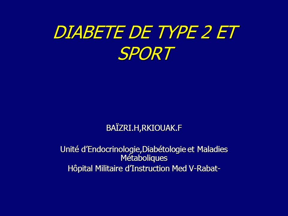 DIABETE DE TYPE 2 ET SPORT