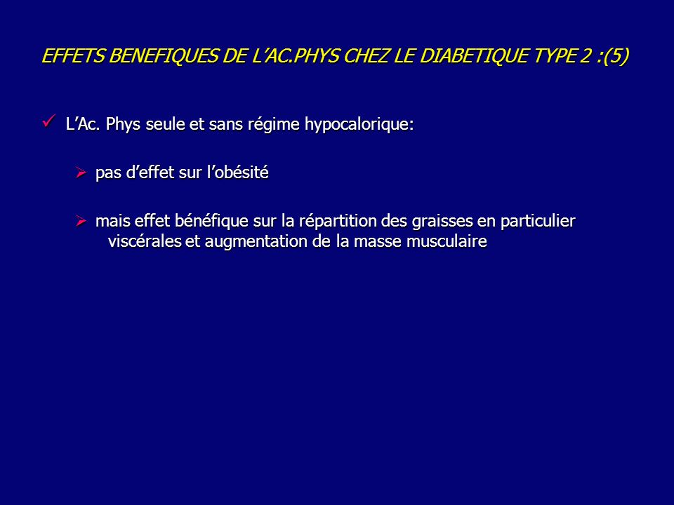 EFFETS BENEFIQUES DE L'AC.PHYS CHEZ LE DIABETIQUE TYPE 2 :(5)