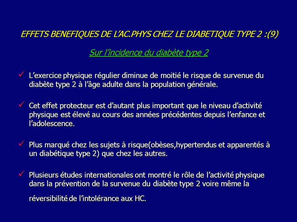 Sur l'incidence du diabète type 2