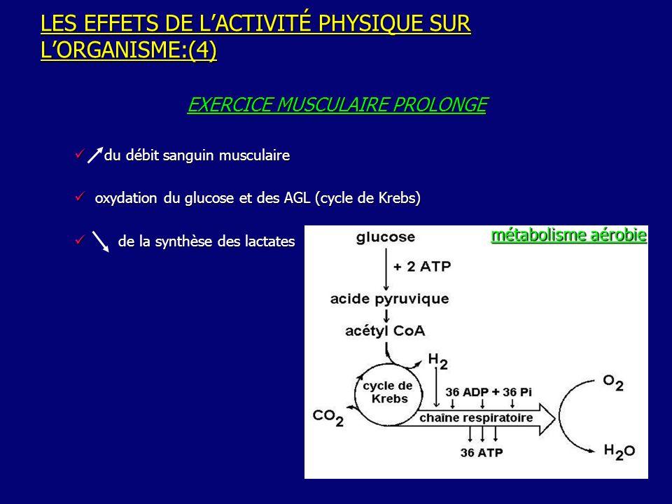 LES EFFETS DE L'ACTIVITÉ PHYSIQUE SUR L'ORGANISME:(4)