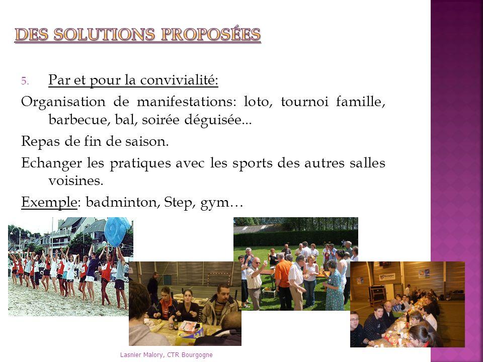 Des solutions proposées