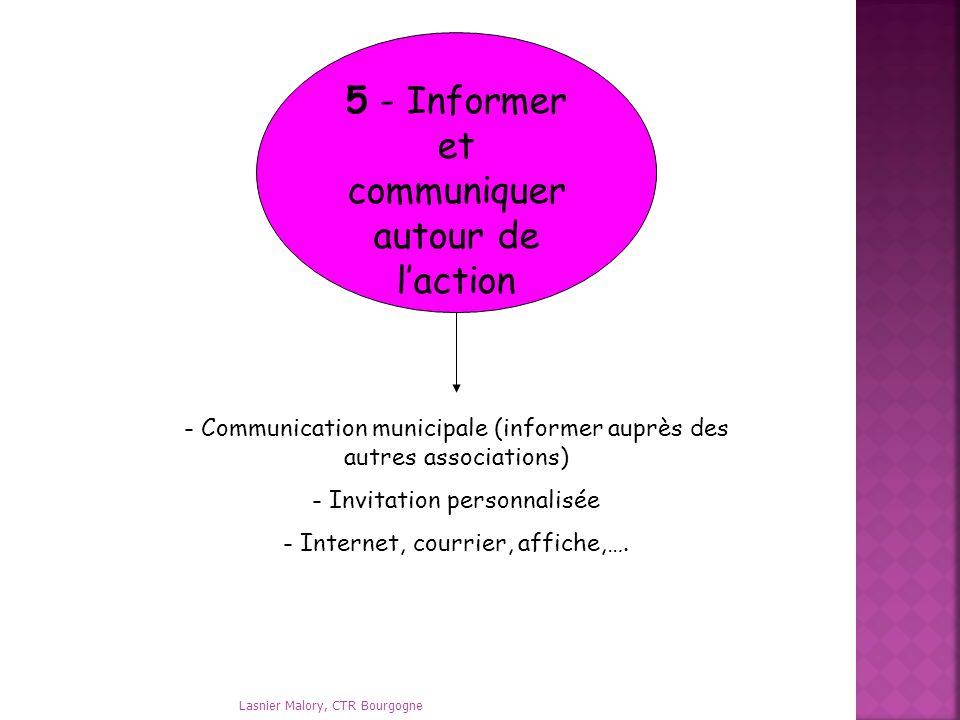 5 - Informer et communiquer autour de l'action