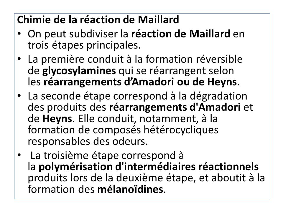 Chimie de la réaction de Maillard