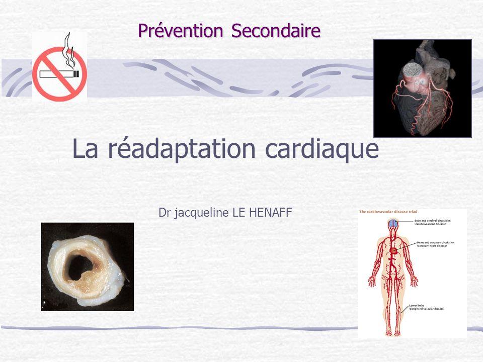 La réadaptation cardiaque Dr jacqueline LE HENAFF