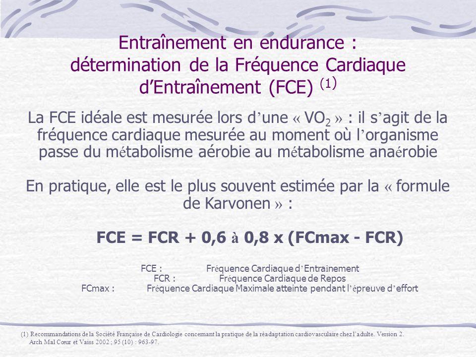 FCE = FCR + 0,6 à 0,8 x (FCmax - FCR)