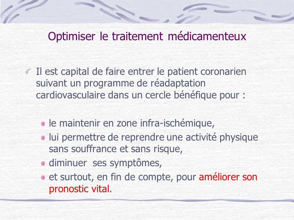 Optimiser le traitement médicamenteux