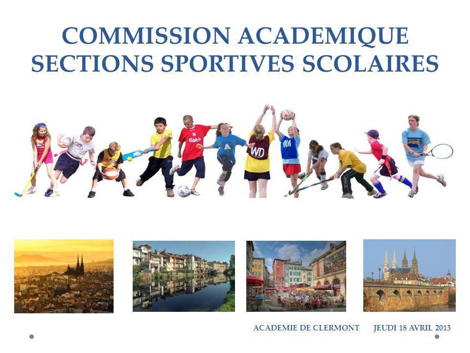 COMMISSION ACADEMIQUE SECTIONS SPORTIVES SCOLAIRES