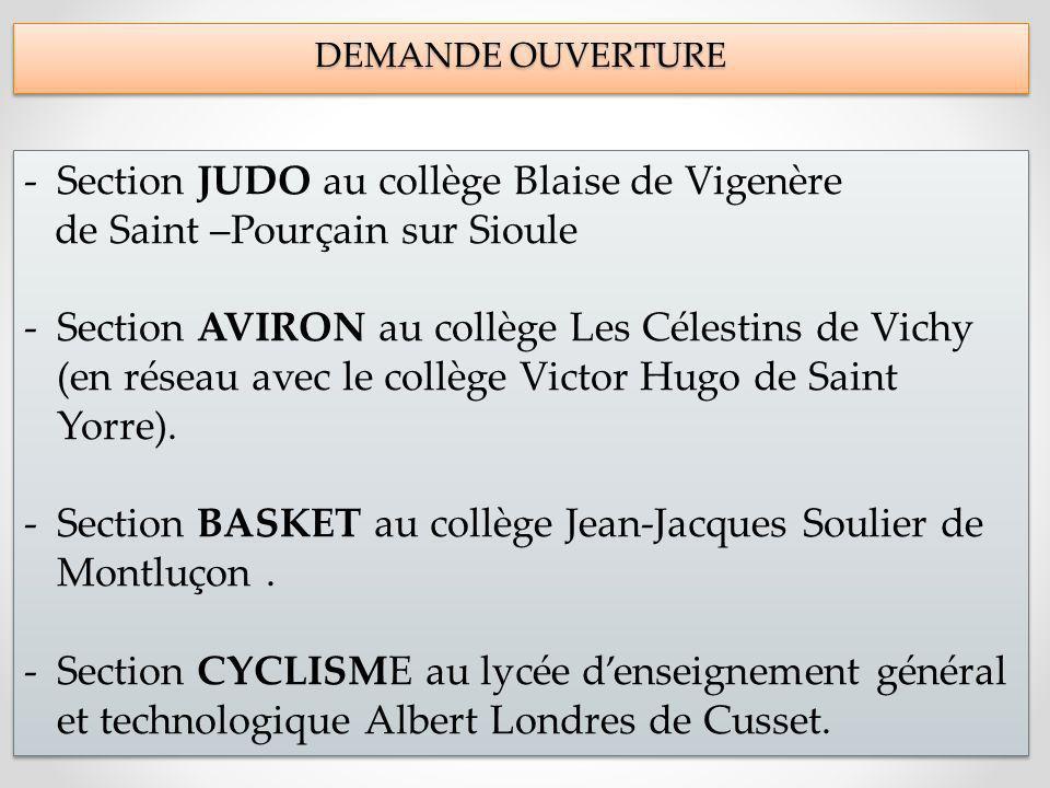 Section JUDO au collège Blaise de Vigenère
