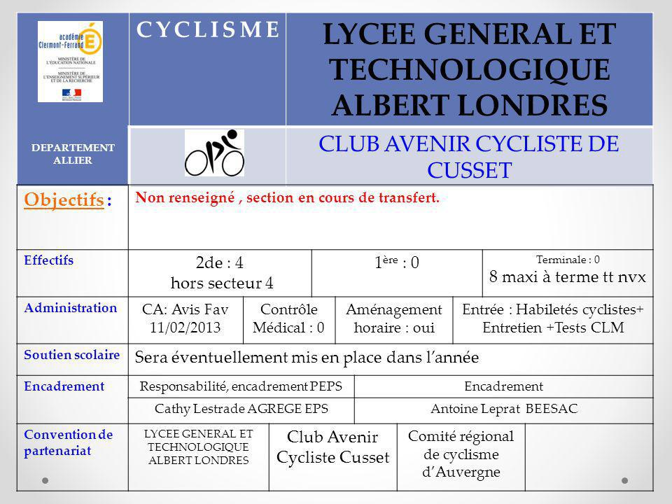 LYCEE GENERAL ET TECHNOLOGIQUE ALBERT LONDRES