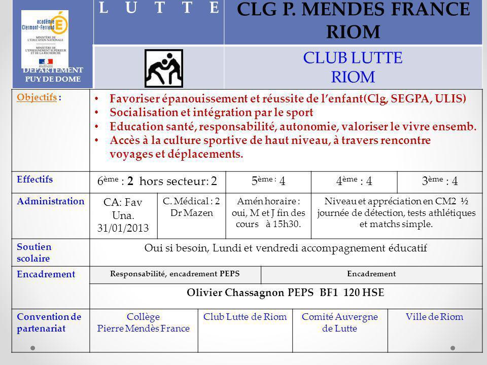 CLG P. MENDES FRANCE RIOM