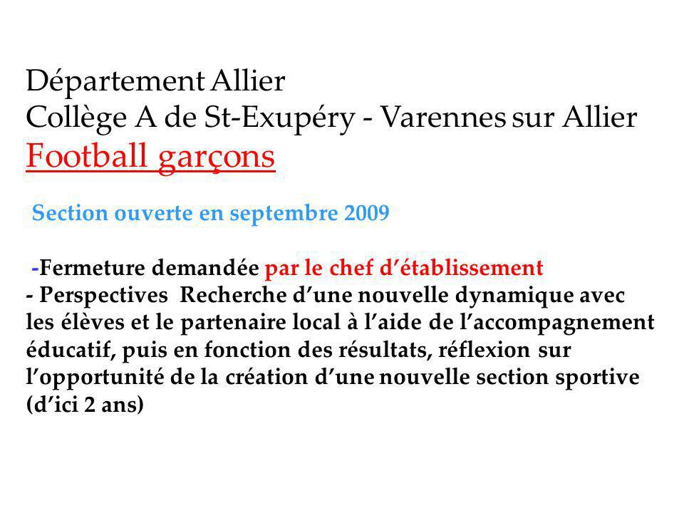 Département Allier Collège A de St-Exupéry - Varennes sur Allier
