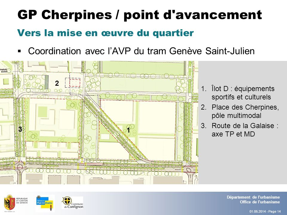 GP Cherpines / point d avancement