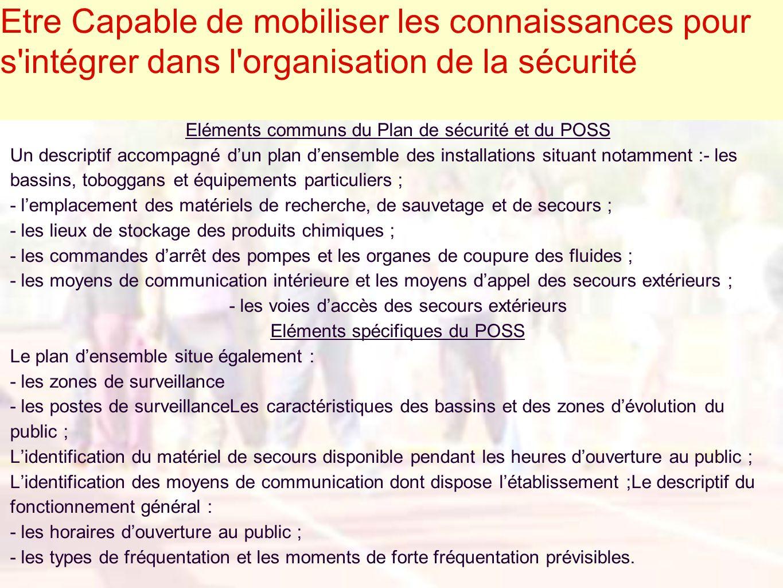 Eléments communs du Plan de sécurité et du POSS