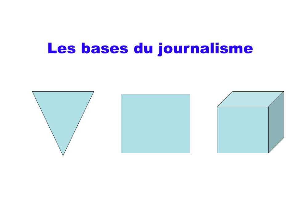 Les bases du journalisme
