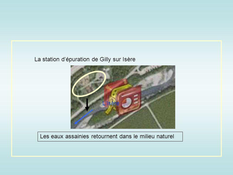 La station d'épuration de Gilly sur Isère