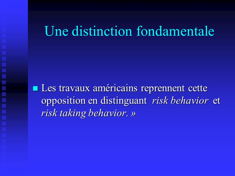 Une distinction fondamentale