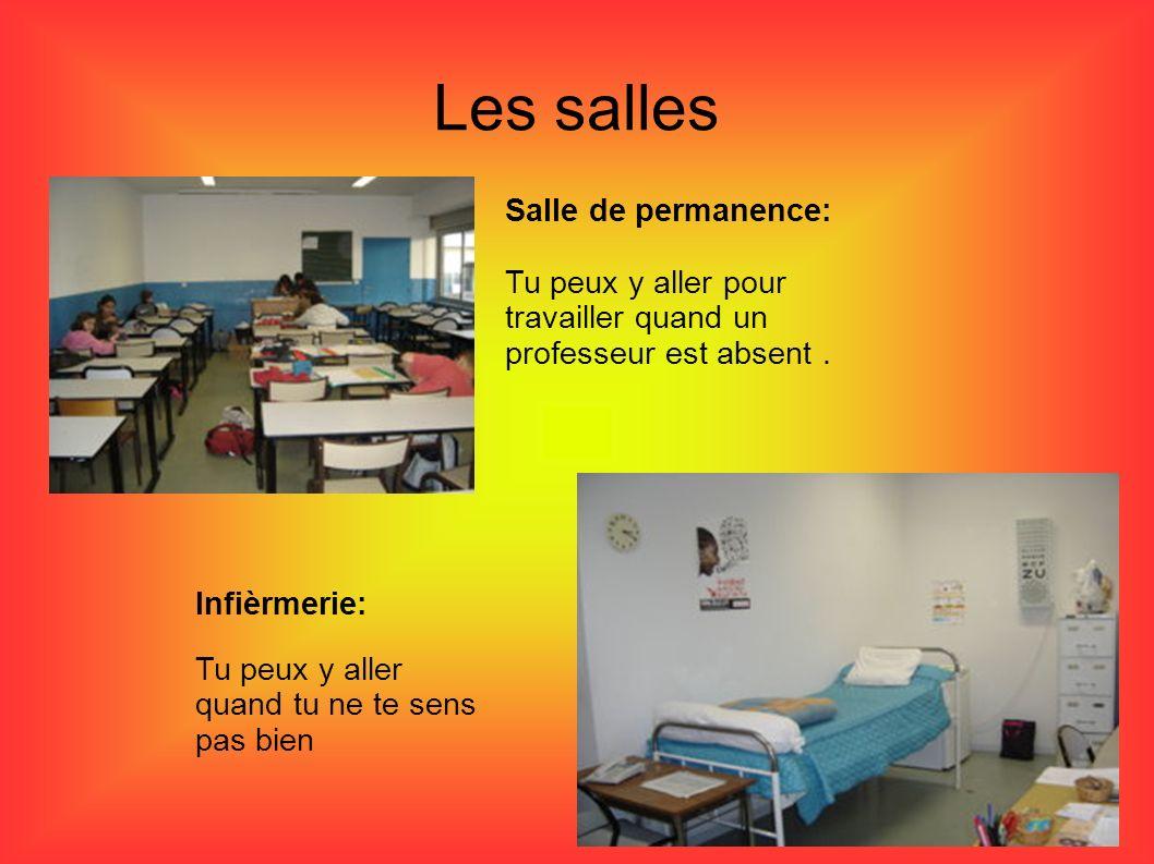 Les salles Salle de permanence: