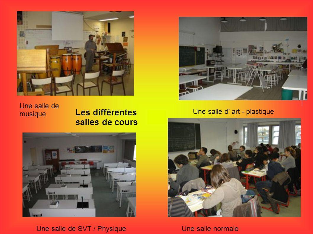 Les différentes salles de cours