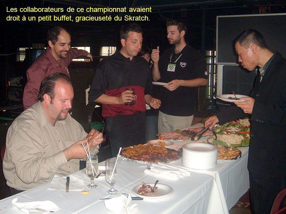 Les collaborateurs de ce championnat avaient droit à un petit buffet, gracieuseté du Skratch.