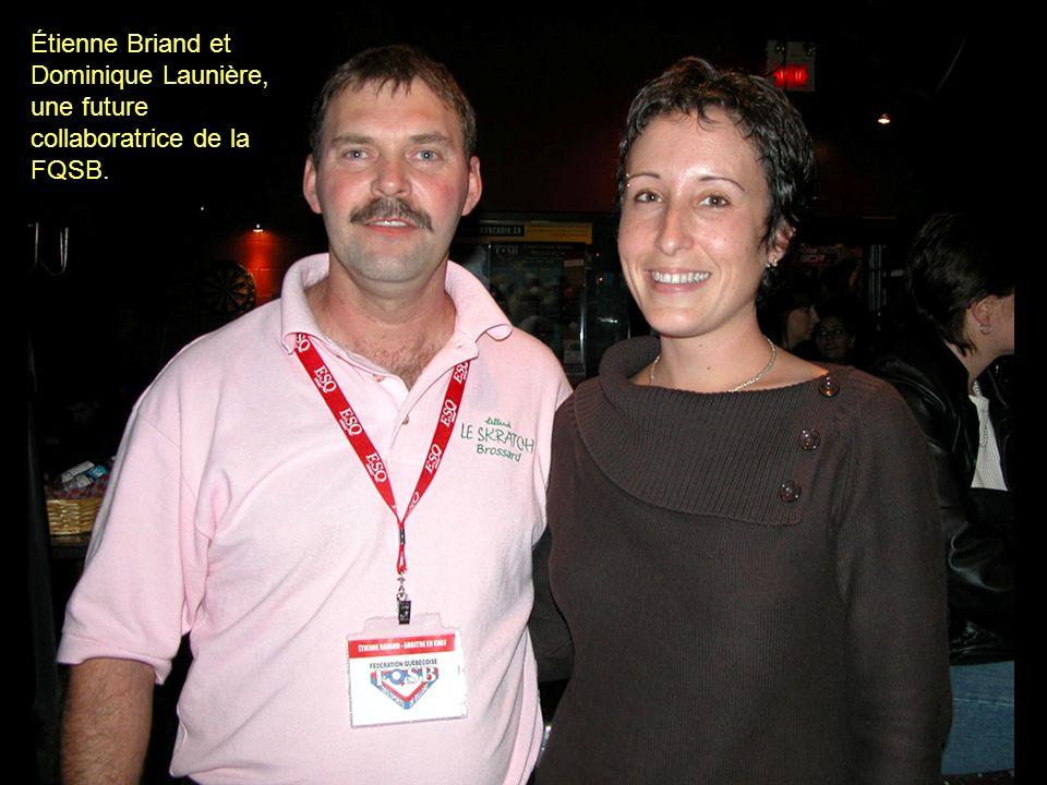 Étienne Briand et Dominique Launière, une future collaboratrice de la FQSB.