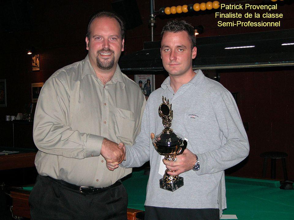 Patrick Provençal Finaliste de la classe Semi-Professionnel
