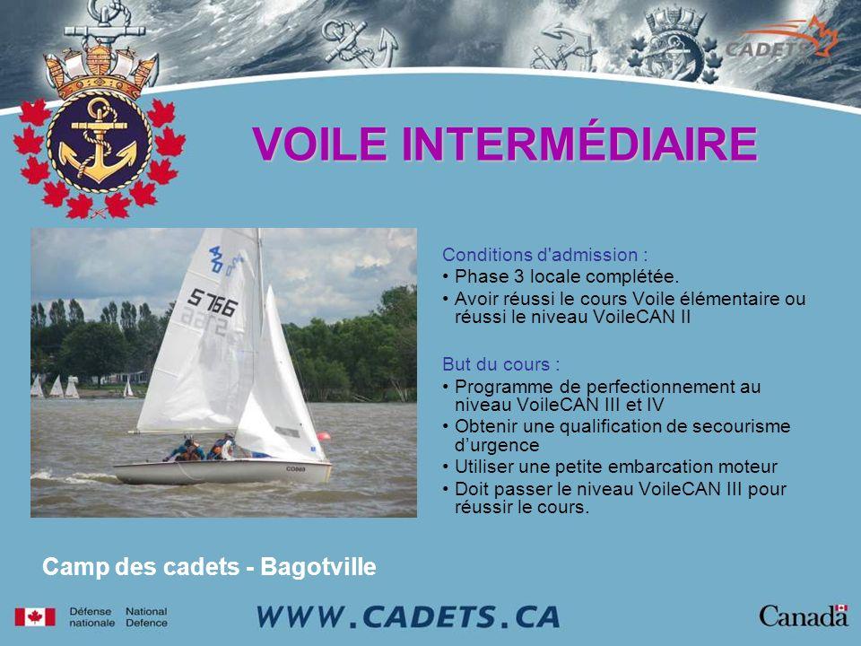 VOILE INTERMÉDIAIRE Camp des cadets - Bagotville