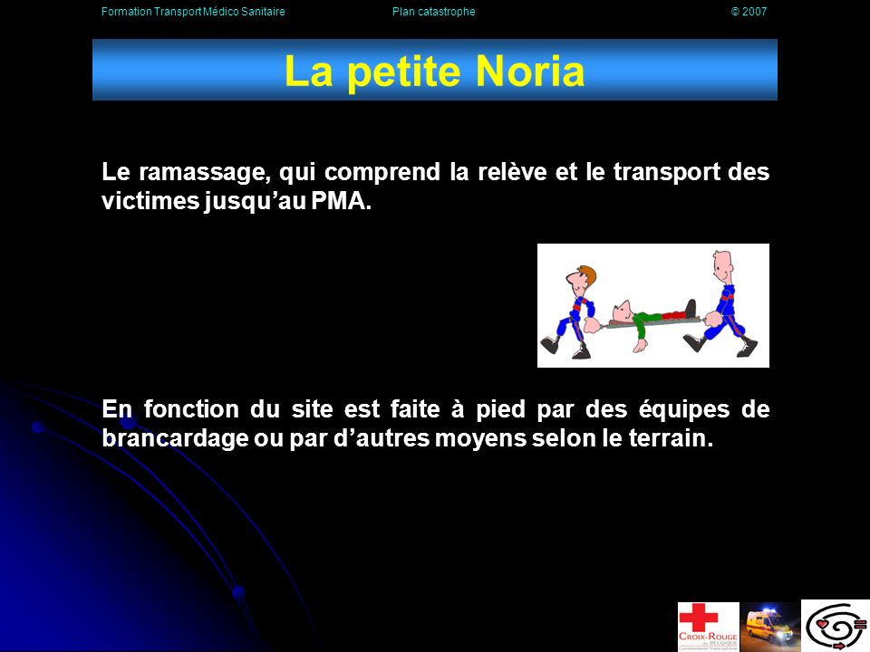 Formation Transport Médico Sanitaire Plan catastrophe © 2007