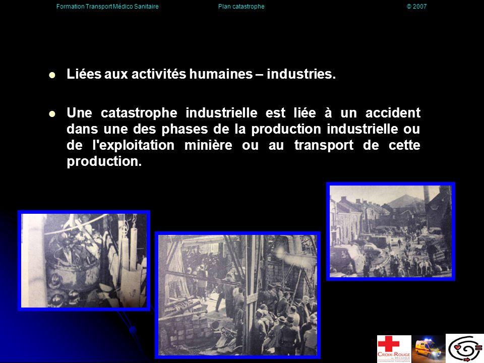 Liées aux activités humaines – industries.