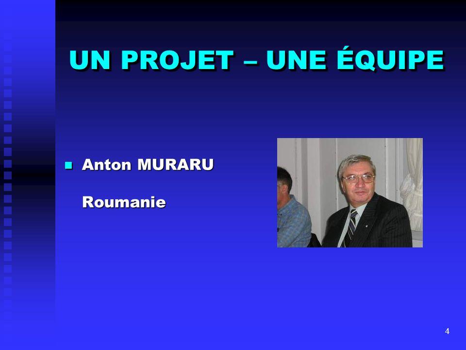 UN PROJET – UNE ÉQUIPE Anton MURARU Roumanie