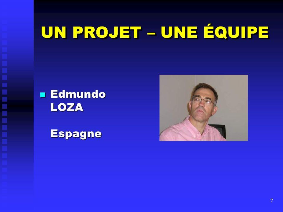 UN PROJET – UNE ÉQUIPE Edmundo LOZA Espagne