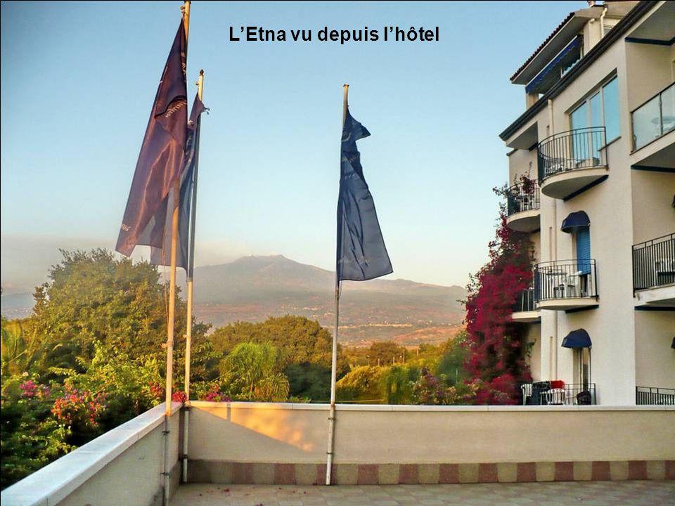 L'Etna vu depuis l'hôtel