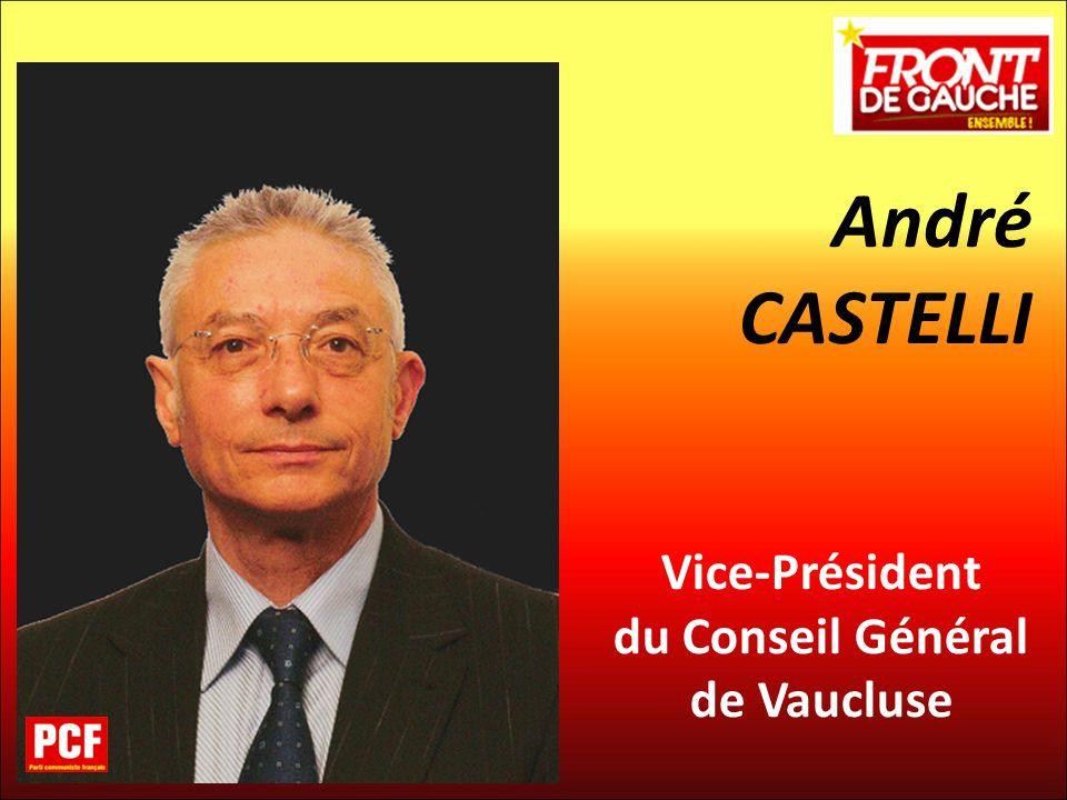 André CASTELLI Vice-Président du Conseil Général de Vaucluse 20
