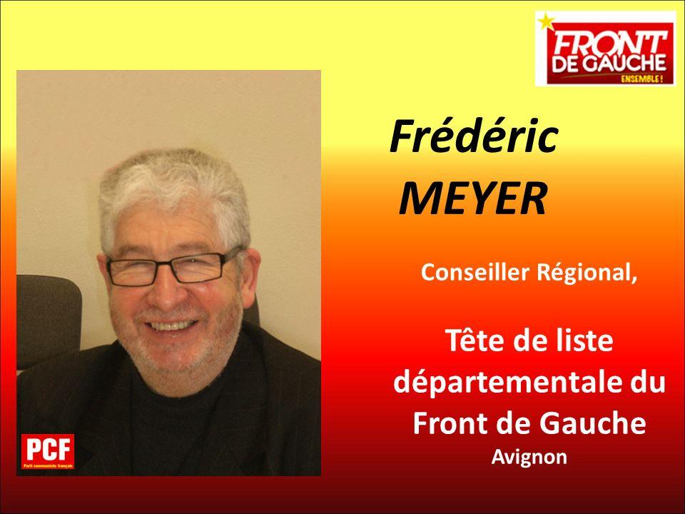 Tête de liste départementale du Front de Gauche